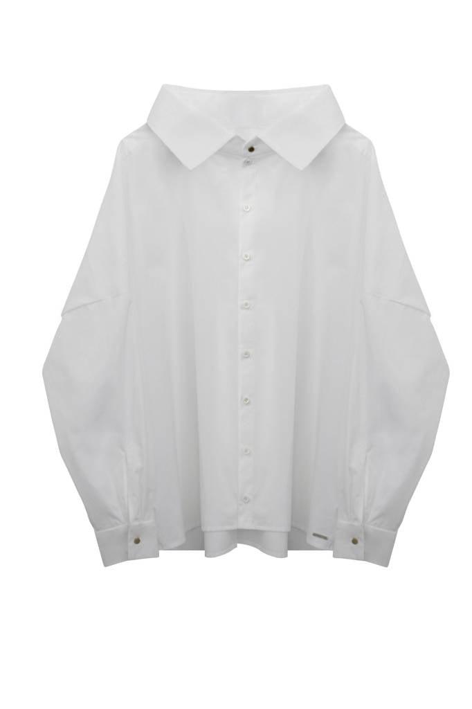 Statement Bluse aus Bio-Baumwolle - Weiß-5
