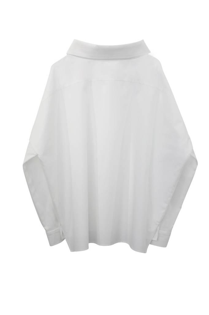 Statement Bluse aus Bio-Baumwolle - Weiß-6