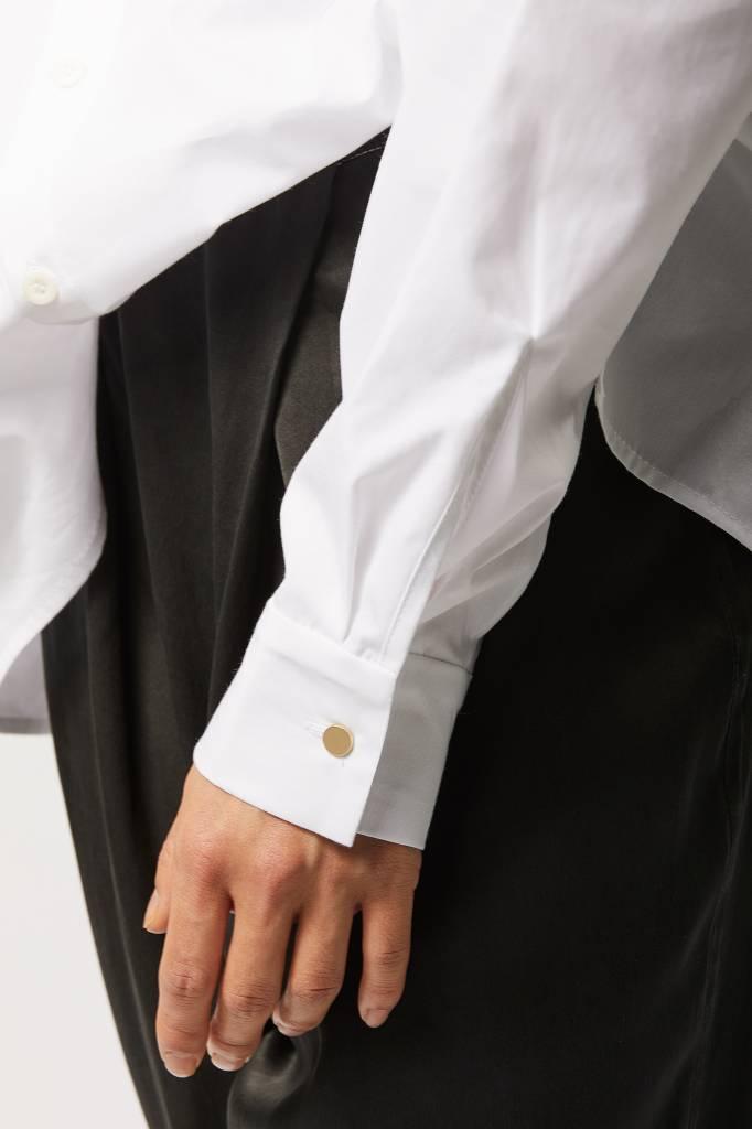 Statement Bluse aus Bio-Baumwolle - Weiß-3