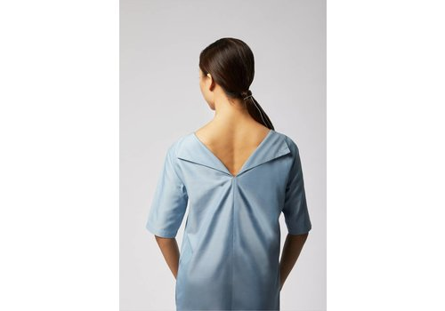 Dress with Tenceles cut-back - Light blue