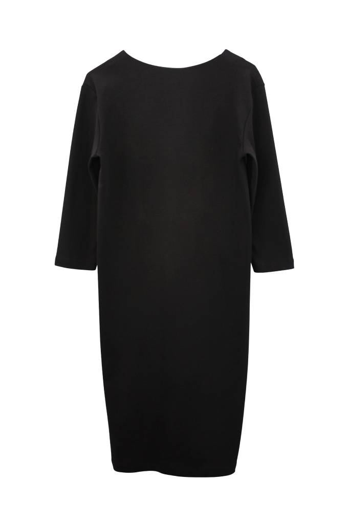Organic Cotton Business Dress - Black-3