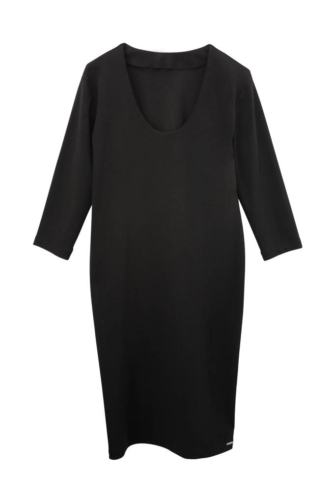 Organic Cotton Business Dress - Black-4