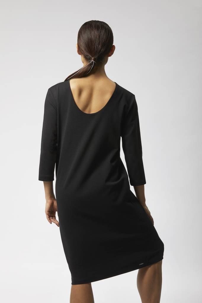 Organic Cotton Business Dress - Black-2