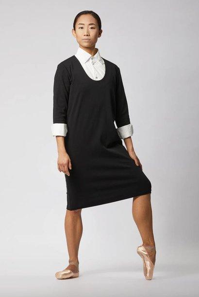 Businesskleid aus Bio-Baumwolle - Schwarz