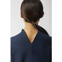 Ripp dress with back detail made of organic cotton - Navy