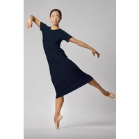 Basic jersey dress in organic cotton - Navy