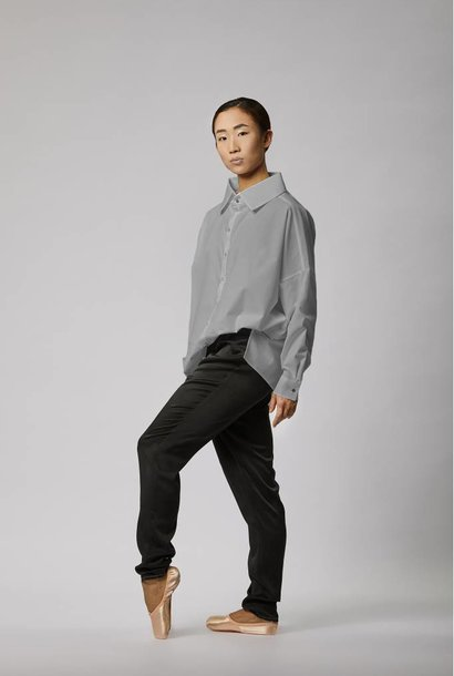 Statement blouse made of organic cotton - light gray