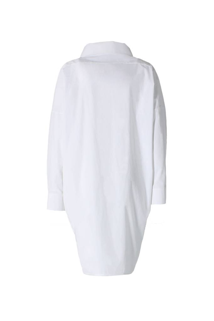 Statement dress in organic cotton - white-4