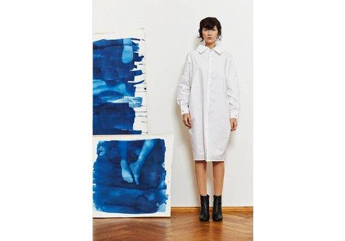 Statement Kleid aus Bio-Baumwolle - Weiß