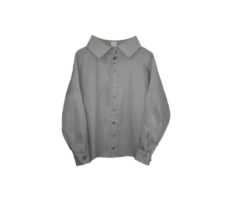 Statement blouse made of organic cotton - light gray