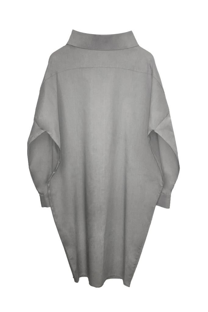 Statement dress made of organic cotton - light gray-2