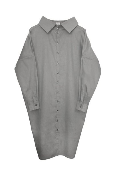 Statement dress made of organic cotton - light gray