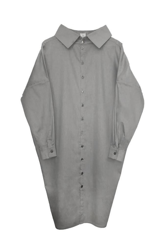 Statement dress made of organic cotton - light gray-1