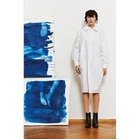 Statement Kleid aus Bio-Baumwolle - Hellgrau