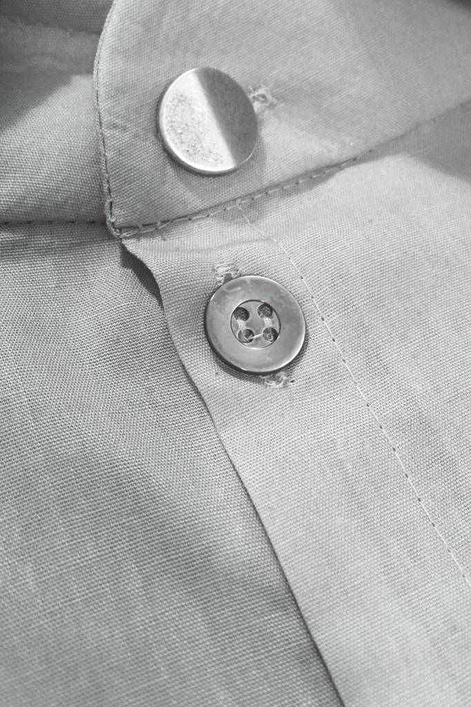 Statement dress made of organic cotton - light gray-4
