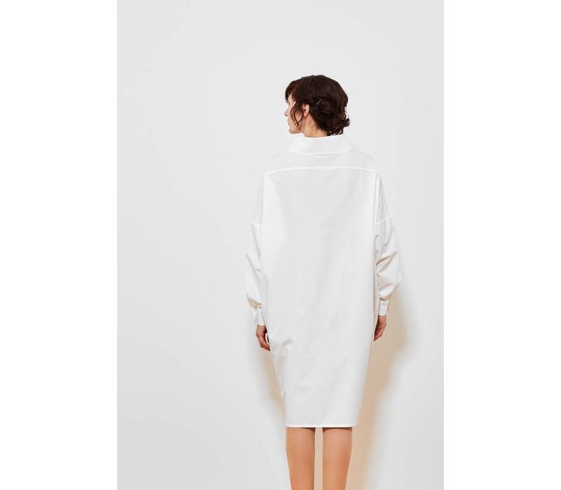 Statement dress made of organic cotton - light gray