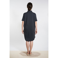 Sporty dress with round hem - Black