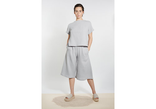 Muslin culotte pants skirt - light gray