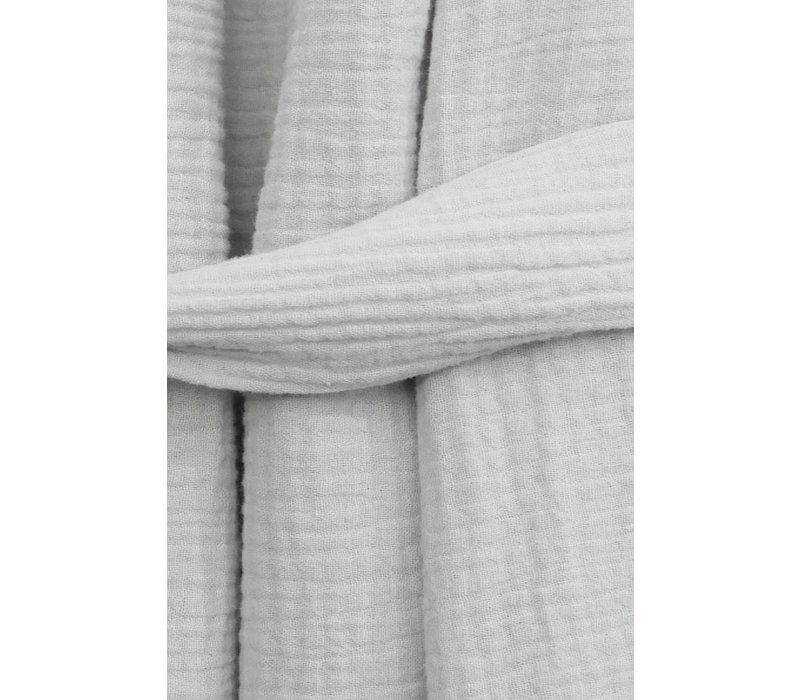 Musselin Shirt mit Rücken Detail - Hellgrau
