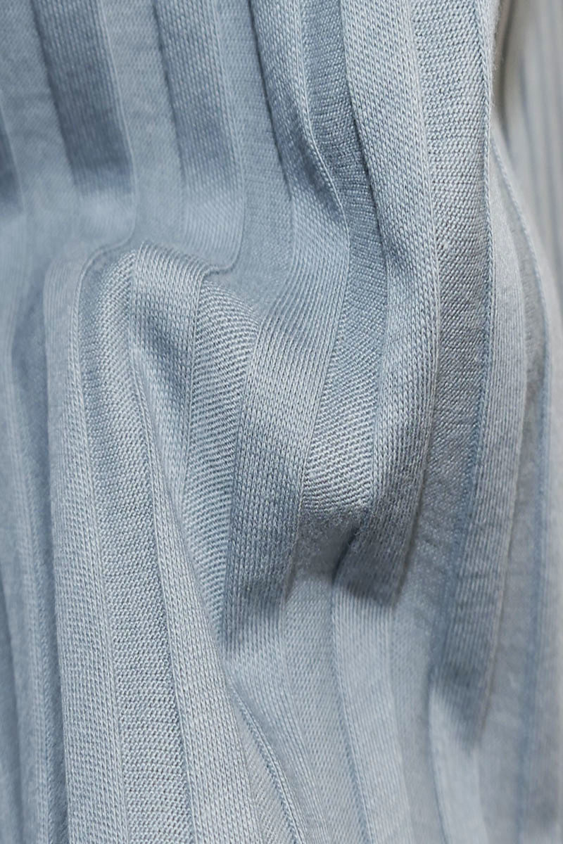 Jersey Kleid mit U-Boot-Ausschnitt - Graublau-3