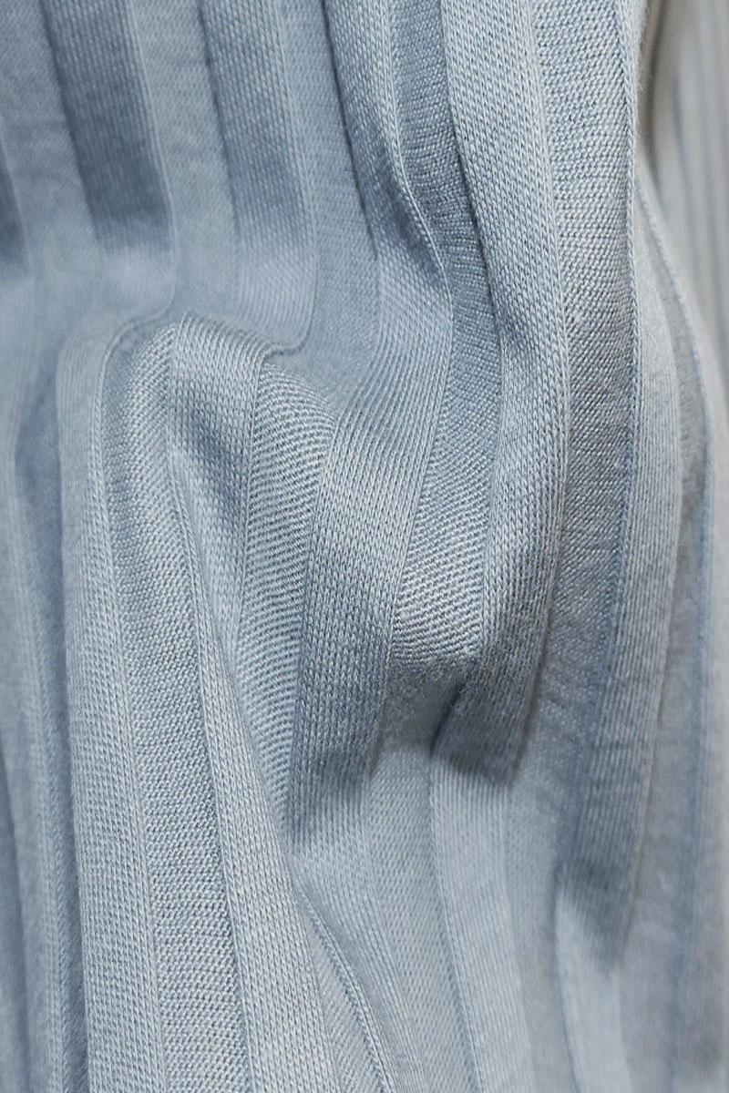Shirt with back neckline - gray blue-3