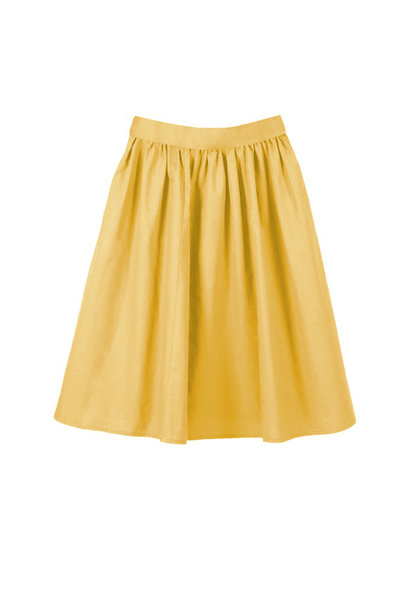 Classic organic cotton batiste skirt - yellow