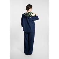 Kimono wool blend jacket - navy