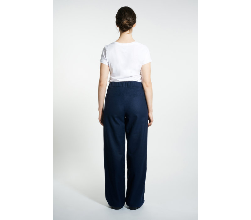 Marlene wool mix trousers - Navy