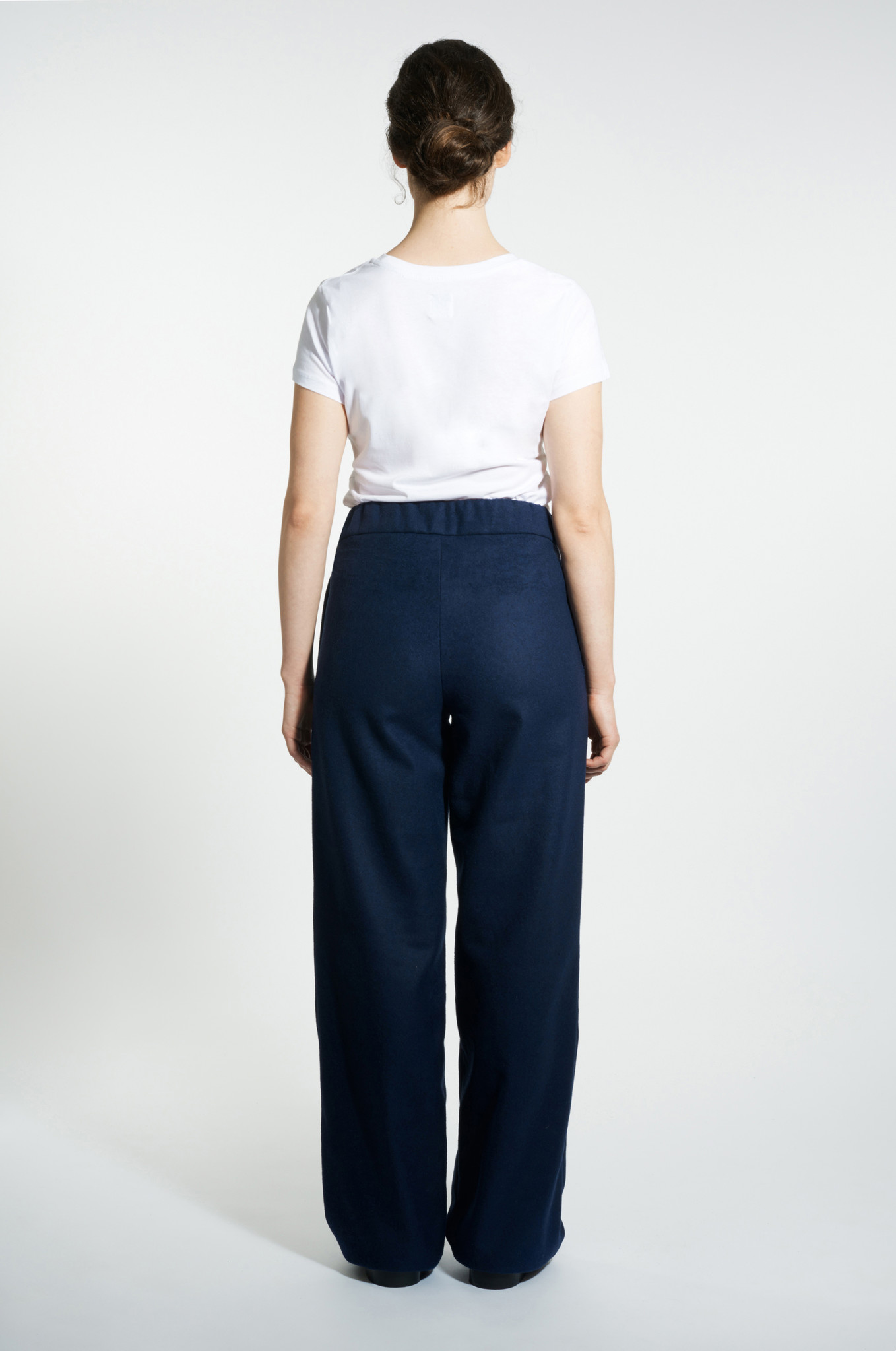 Marlene wool mix trousers - Navy-4