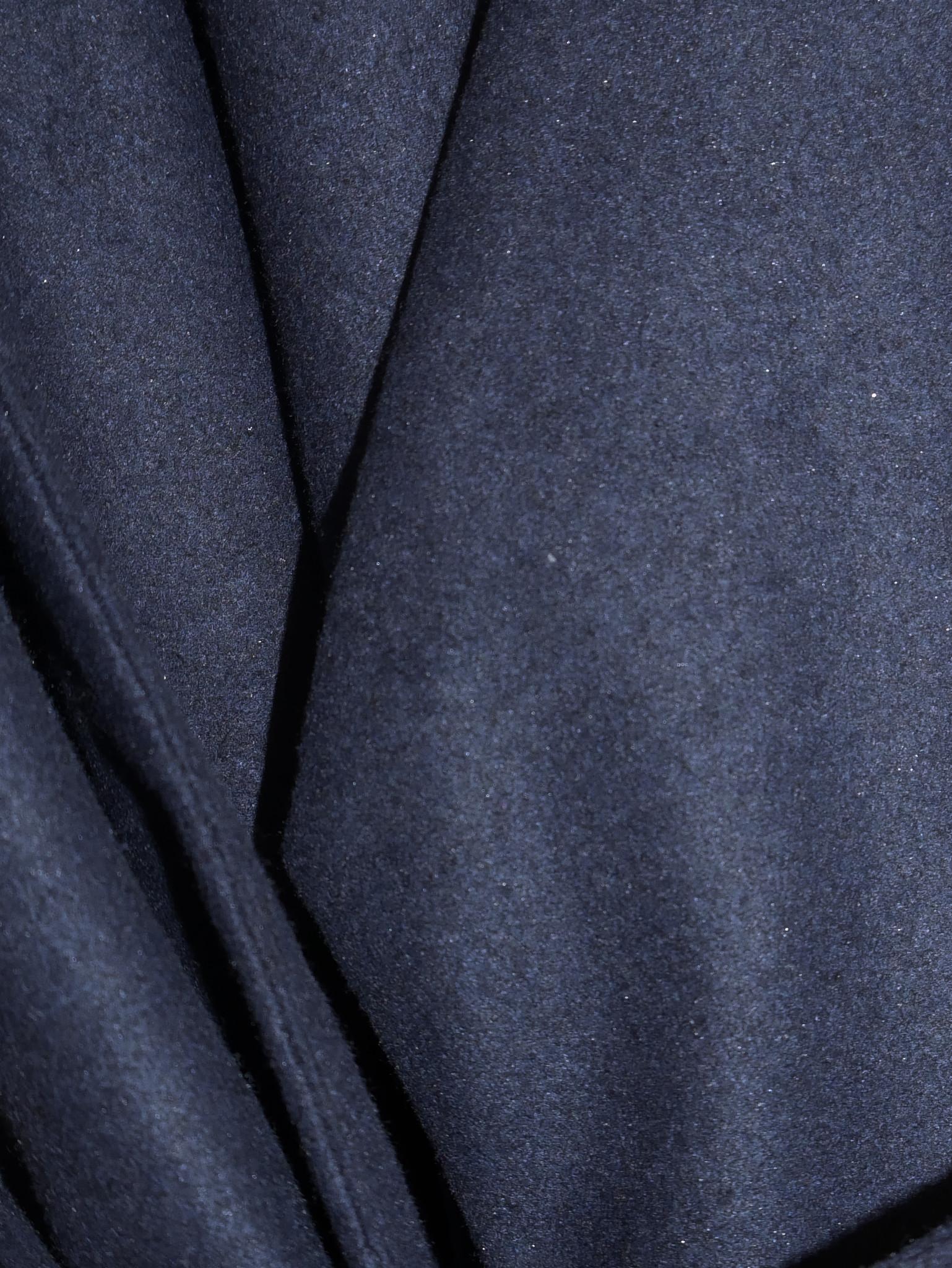 Kimono wool blend jacket - navy-5