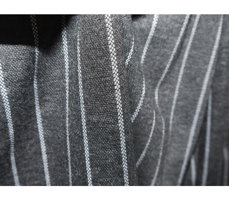 Egg-Shape Pinstripe Dress - Black
