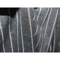 Elegant Pinstripe Pants with Pleat - Black