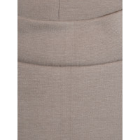 Slim cotton skirt - taupe