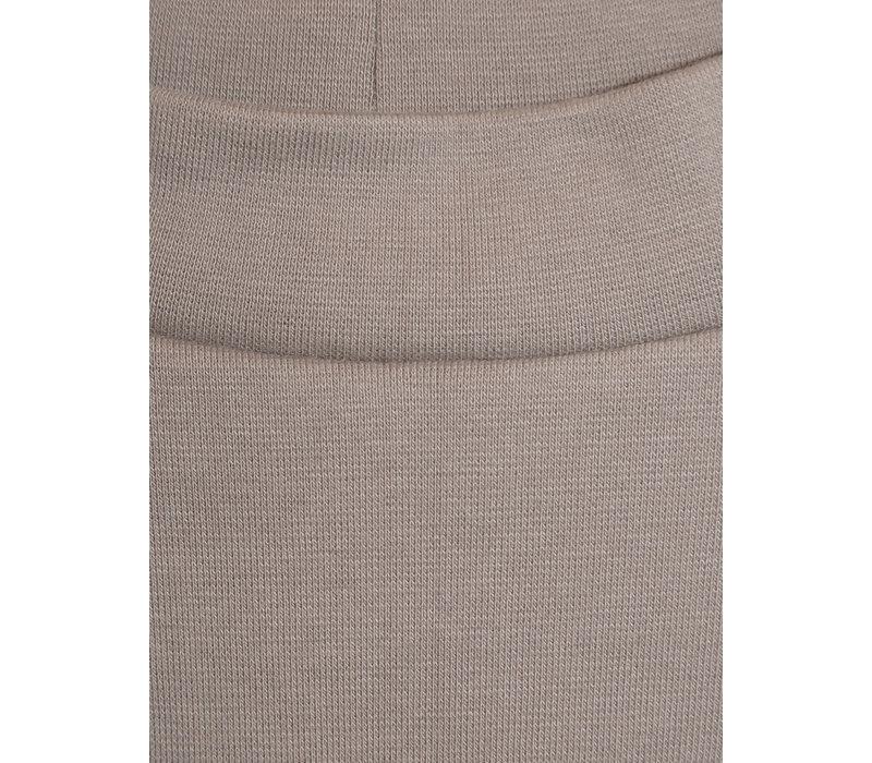 Schmaler Rock  aus Baumwolle - taupe