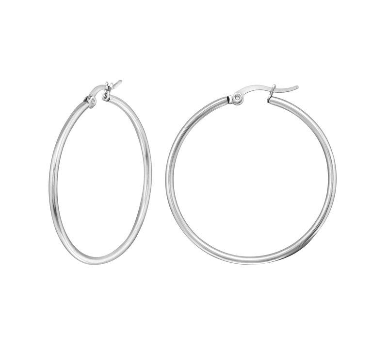 Big Hoop Earrings - Silver