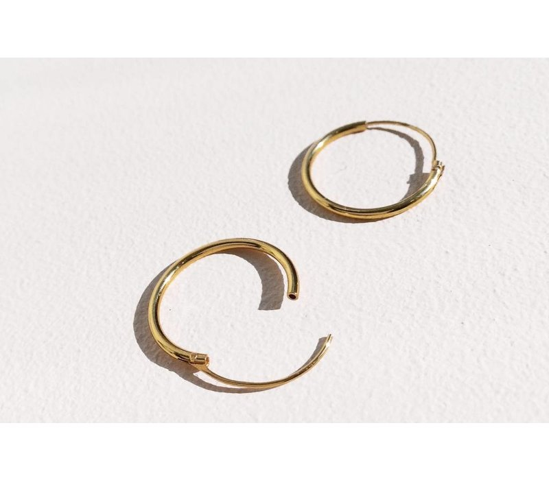 Kleine Creolen Ohrringe (10mm)- 925er Sterling Silber - Gold
