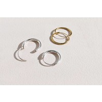 Small Hoop Earrings (10mm) - 925 Sterling Silver - Gold