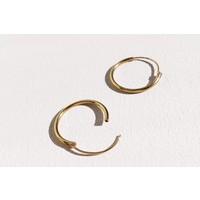 Kleine Creolen Ohrringe (8mm)- 925er Sterling Silber - Gold