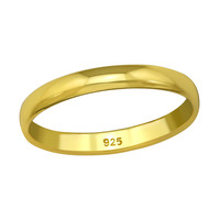 Classic ring made of 925 sterling silver - gold