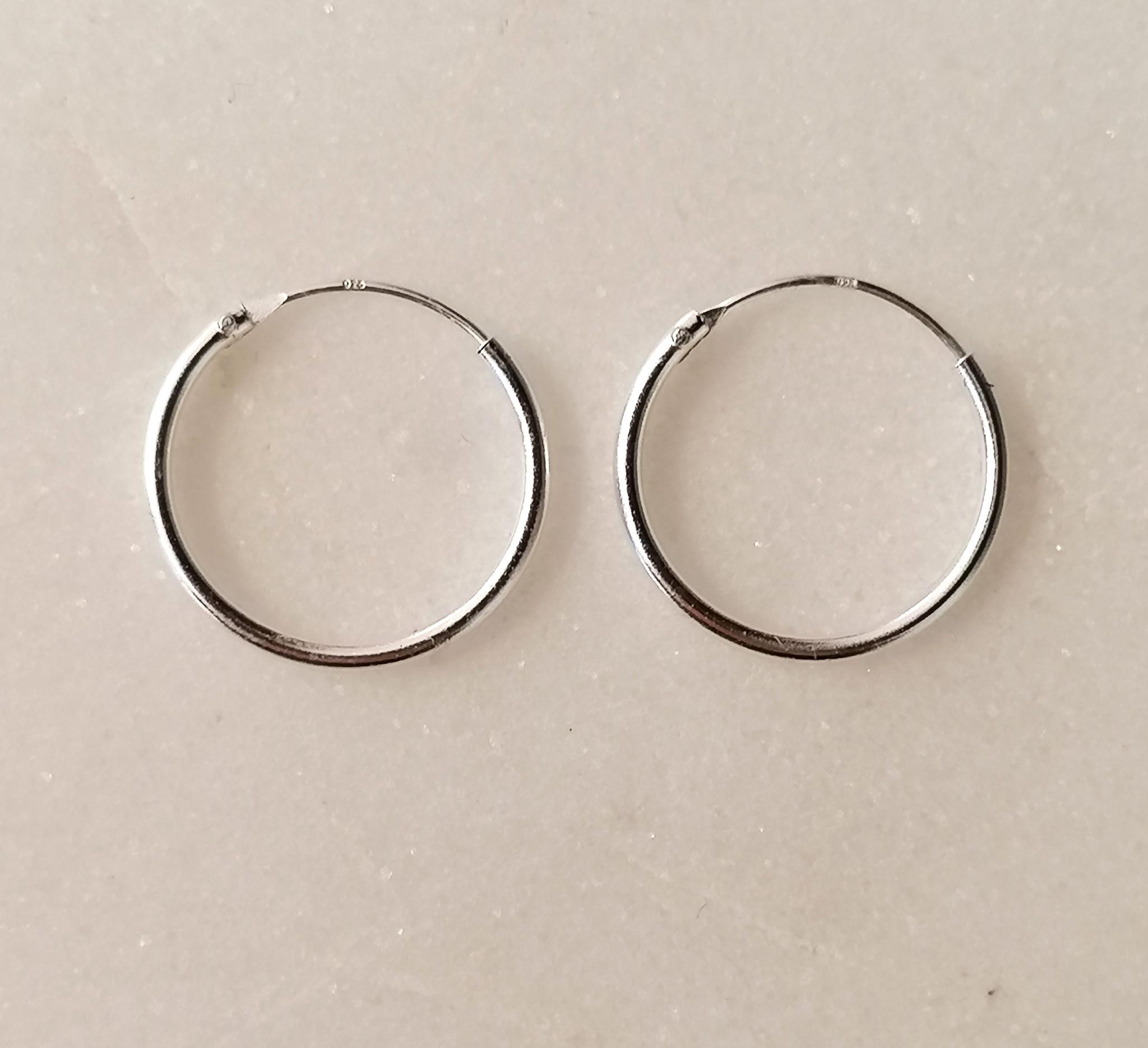 Kleine Creolen Ohrringe - 925er Sterling Silber-5