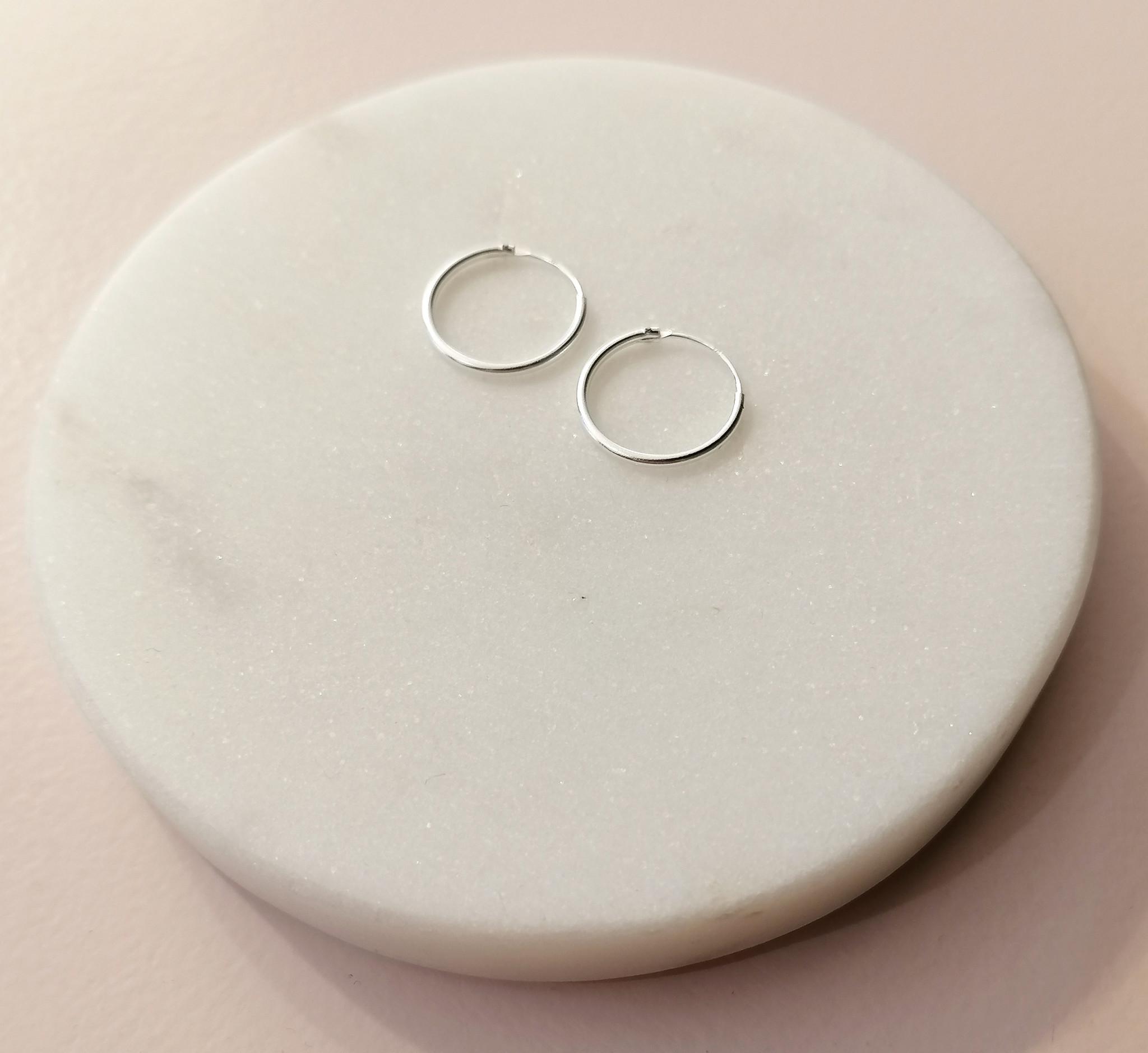 Kleine Creolen Ohrringe - 925er Sterling Silber-4