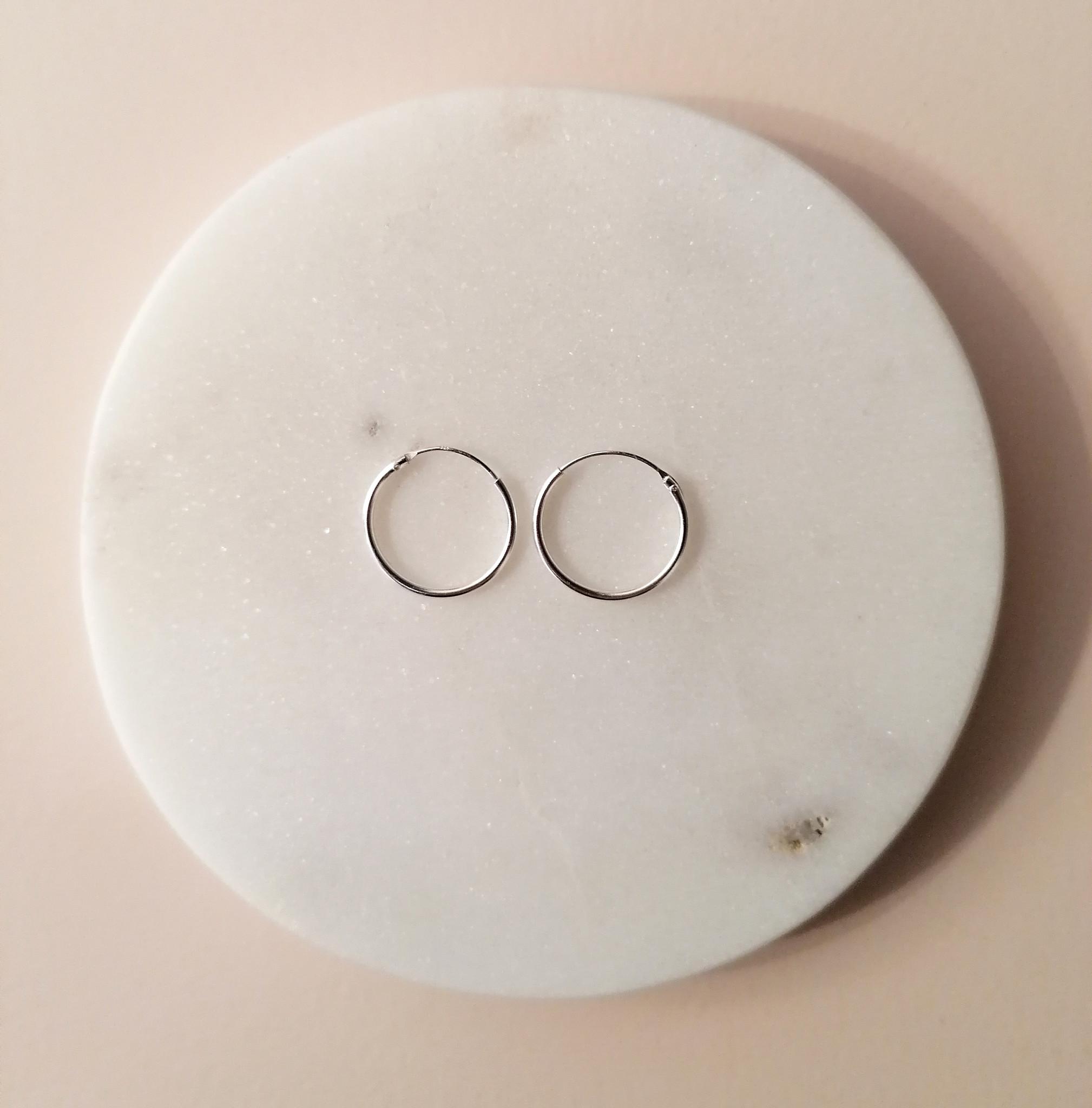 Kleine Creolen Ohrringe - 925er Sterling Silber-3