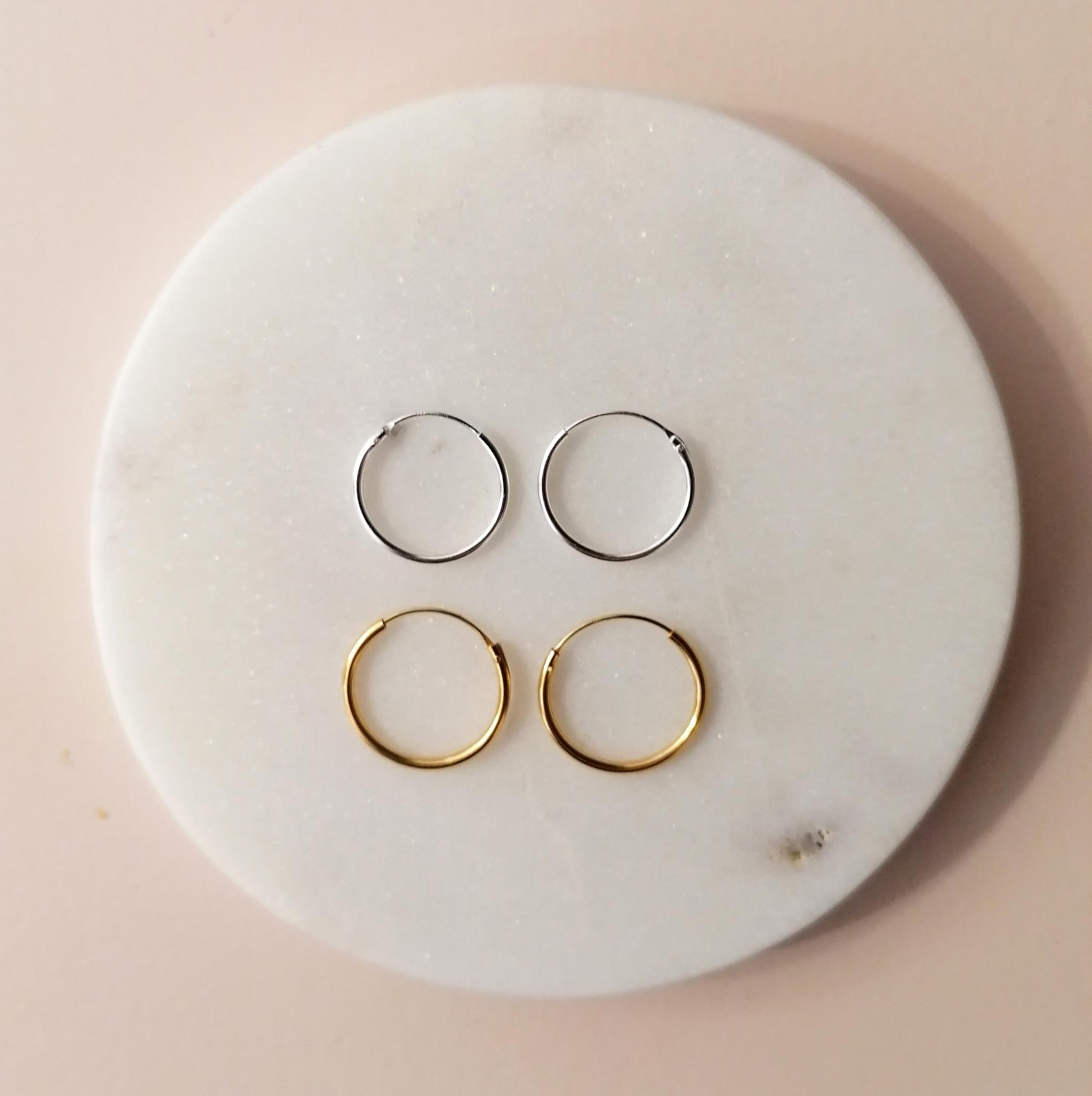 Kleine Creolen Ohrringe - 925er Sterling Silber-6