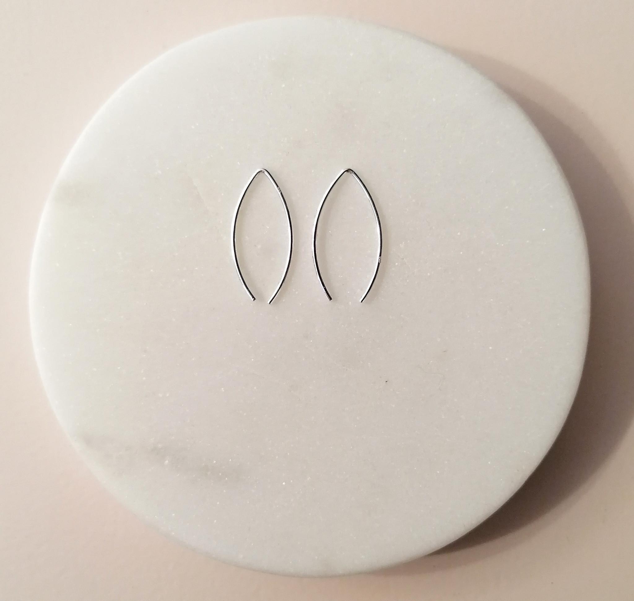 Puristischer Ohrring Bügel aus 925er Sterling Silber-2