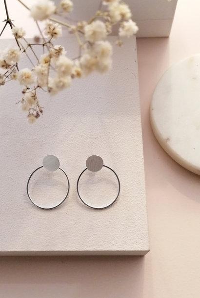 Doppel Ohrstecker Ring aus 925er Sterling Silber