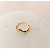 Ring with Triangle - Sterling Silver - gold doubled