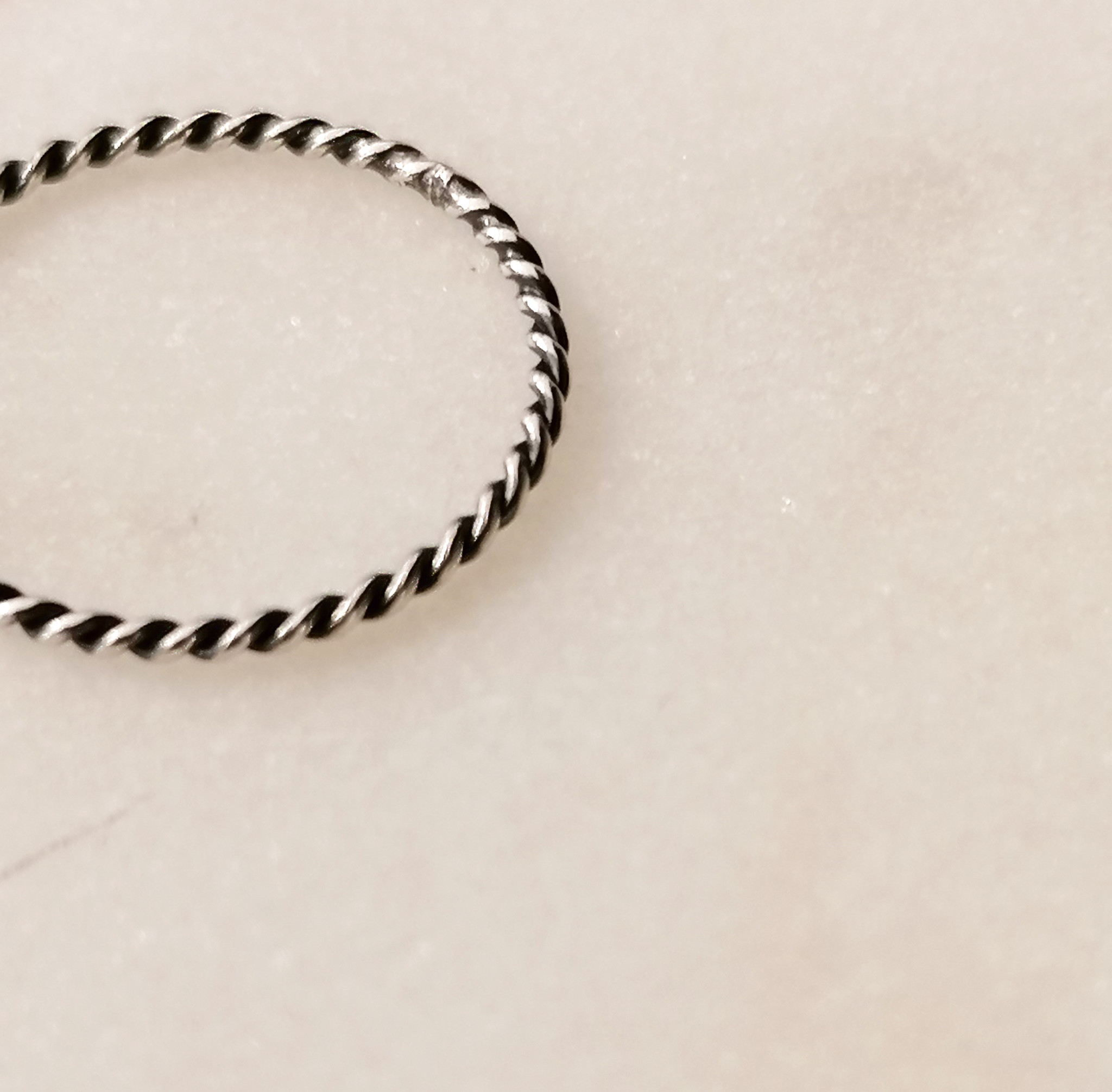 Fine braided ring of 925 sterling silver black-4