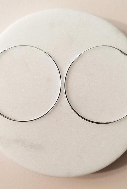 Big fine Loops - Sterling Silver
