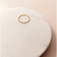 Fein geflochtener Ring aus 925er Sterling Silber - Gold