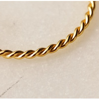 Fine braided ring of 925 sterling silver - Copy